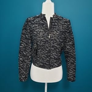 H&M slight crop bomber jacket